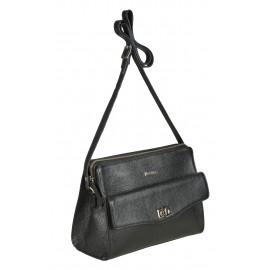 Marina C. сумка 3702 кожа черный/никель