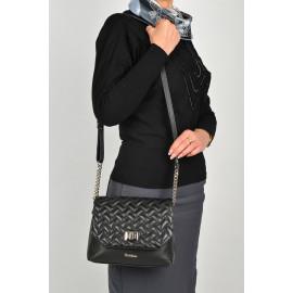 Marina C. сумка 4759 кожа черный вышивка