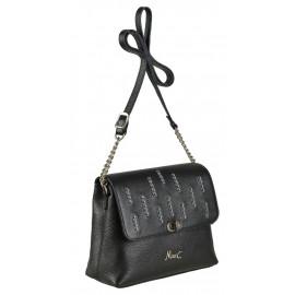 Marina C. сумка 5030 кожа черный стразы