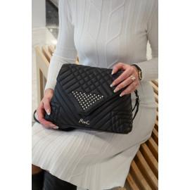 Marina C. сумка 5186 кожа черный вышивка