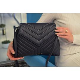 Marina C. сумка 4658 кожа синий вышивка