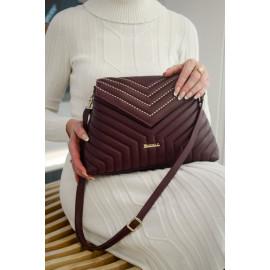 Marina C. сумка 4658 кожа бордо вышивка