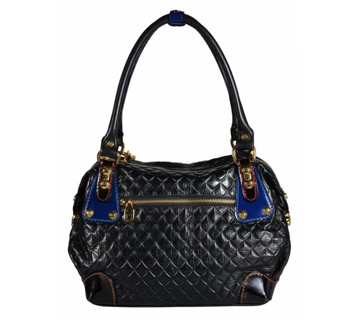 Marino Orlandi сумка 4206 ромбик черный/мульти