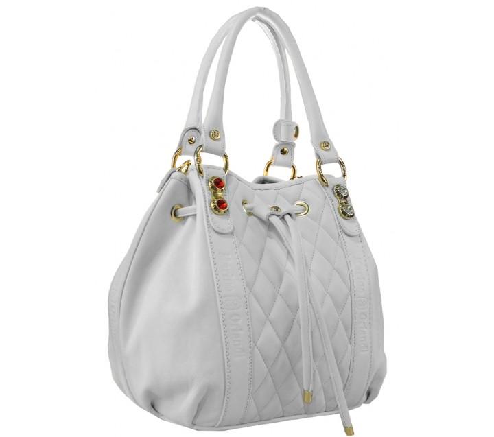 Marino Orlandi сумка 4129 кожа белый/стразы