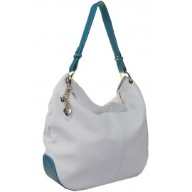 CMP сумка 1415 кожа белый/турчезе