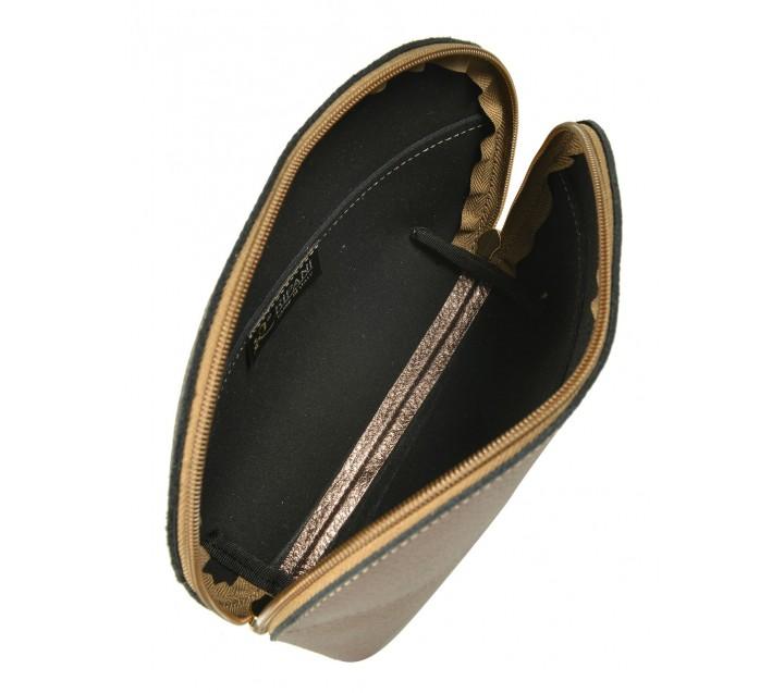 Ripani косметичка 7006 кожа металлик бронза