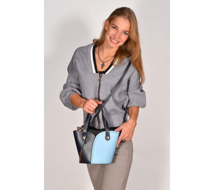 Ripani сумка 5017 Spaccacuore ML синий/голубой