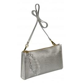 Roberta Gandolfi сумка 1443 калф металлик серебро