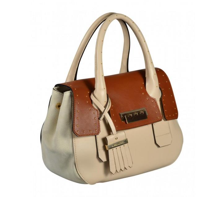 A.Bellucci сумка 592 кожа бежевый/койо