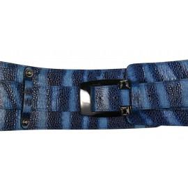 Marina C. ремень р1622-95+р1865-40 кожа синий мульти