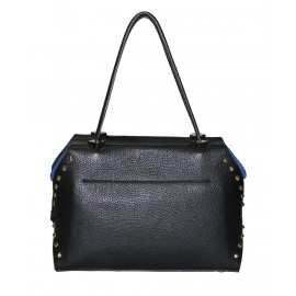 Carlo Salvatelli сумка 406 кожа черный/синий