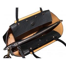 Gironacci сумка 1180 средняя кожа черный/черный