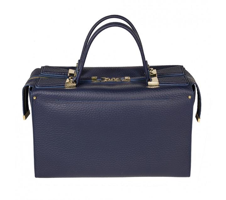 Gironacci сумка 1471 кожа синий/синий