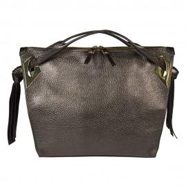 Gironacci сумка 1571 кожа металлик антрацит
