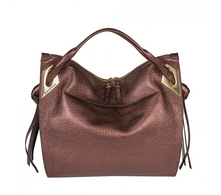 Gironacci сумка 1571 кожа металлик бронза