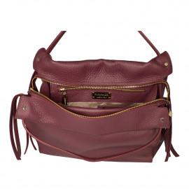 Gironacci сумка 1681 кожа бордо/бордо