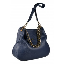 Gironacci сумка 1672 кожа синий/синий