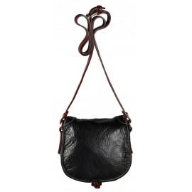 Pellicano сумка 1362 кожа черный/бордо
