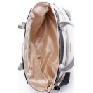 CMP сумка 1417 кожа белый/турчезе/бежевый