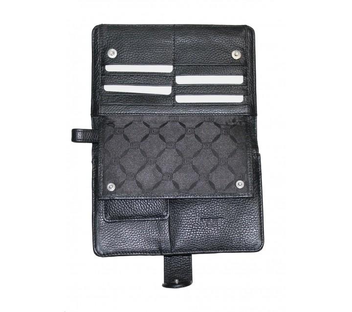 Giudi UOMO сумка м2871 кожа черный
